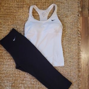 Nike small capris and tank